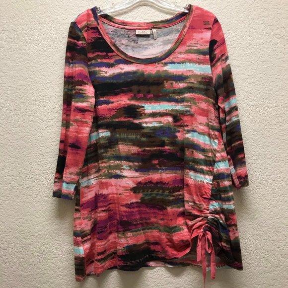 LOGO Pink Multicolor Tunic Top